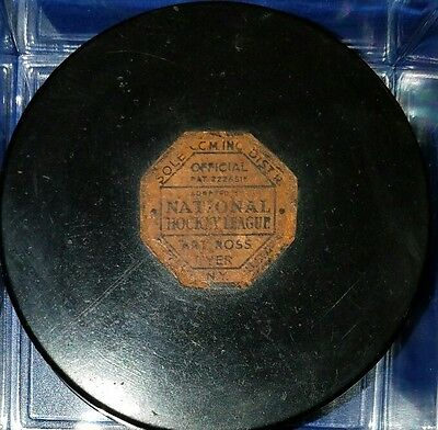 Rare Art Ross Tyer 1942 - 50 NHL Puck Original 6 NHL Puck Buffalo PAT 2226516