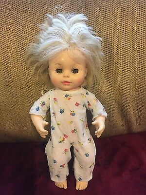 Vintage 1977 Horsman Drink & Wet Doll 12 Inch