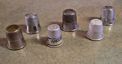 Small Lot Of Vintage Thimbles-Look!
