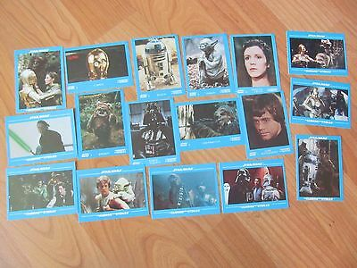 STAR WARS 1984 Stickers trading Cards Kellogg's VINTAGE lot of 17 Jedi LUKE LEIA