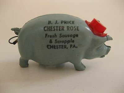 Vintage Advertising Pig Tape Measure Chester PA Sausage & Scrapple