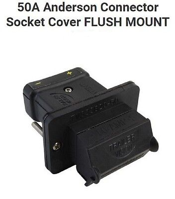 50Amp Anderson Plug Connector New External Flush Panel Mounting Kit Cover