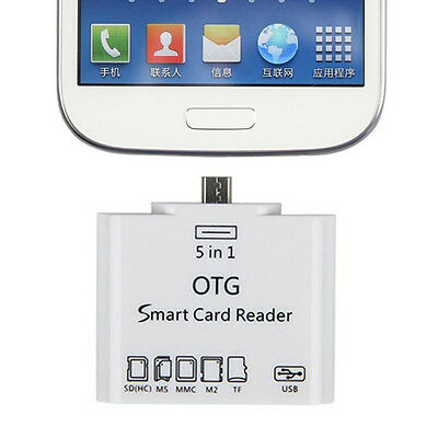 5 IN1 Micro USB OTG Micro SD Card Reader Adapter For Samsung Galaxy Phone/Tablet