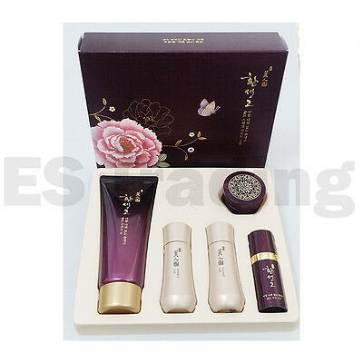 The face shop Hwan saeng go Gold Special Gift 5 (Items)  Luxury Skin Care Kit