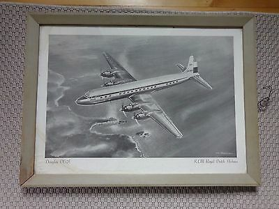 KLM Royal Dutch Airlines DC-7C framed poster/print by Van Huesden