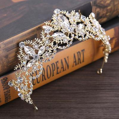 Baroque Princess Tiaras Wedding Crown Bride Tiara Diadem Coronet Hair Accessory