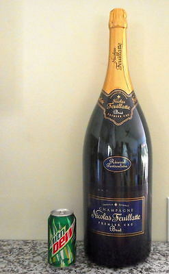 Nicolas Feuillatte Champagne Brut France 6L LARGE BIG EMPTY BAR DECOR Bottle 24""