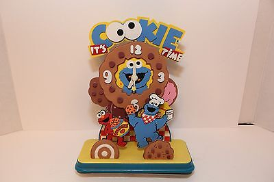 "Sesame Street ""It's Cookie Time"" Wall Clock 1998 Rare"