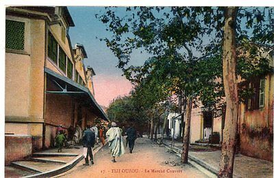 RARE 1907 Postcard Tizi Ouzou  French Algiers North Africa WWI Unposted Street 2