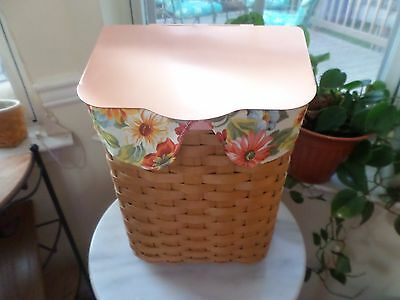Longaberger Rare Collectors Club Mailbox Copper Lid Sunny Day Liner