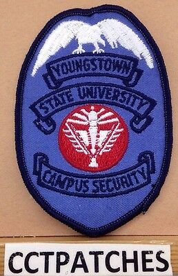 Vintage Youngstown State University, Ohio Campus Security (Police) Patch Oh