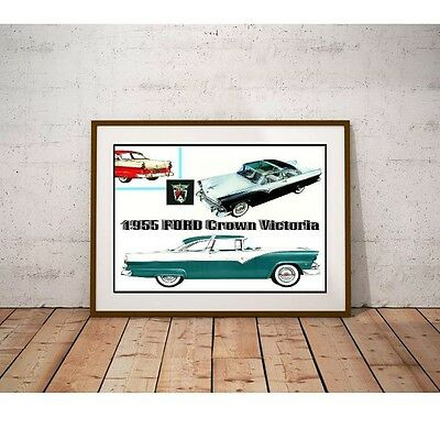 1955 Crown Victoria Classic Car Poster