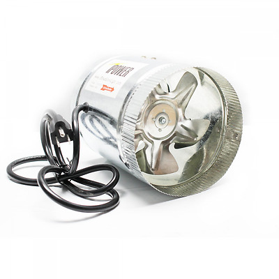 iPower GLFANXBOOSTER6 Inline Ducting Booster Fan with Cord, 6-Inch