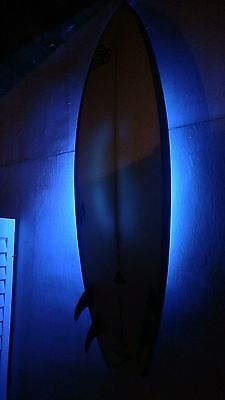 surf racks surfboard vertical easy wall hang display with wireless LED lights