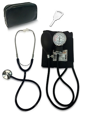 Primacare DS-9197-BK Classic Series Adult Blood Pressure Kit, Black with Stethos