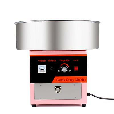 Electric Cotton Candy Machine Pink Floss Carnival Commercial Maker Party HQ