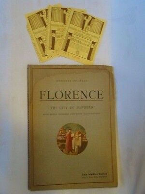 Florence the City of Flowers - Wonders of Italy (The Medici Art Series) 1937 +