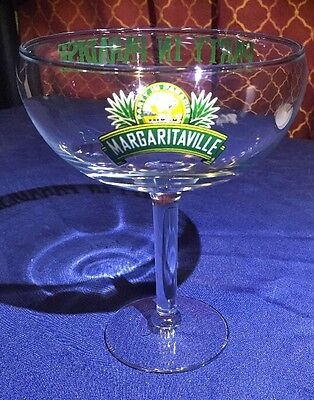 "Margaritaville Premium Stemmed Margarita Glass ""PARTY IN PARADISE"""