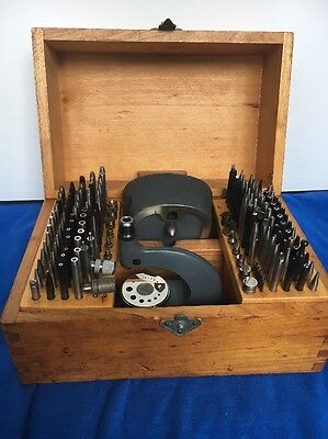 Vtg Boley Staking & Jeweling Large Watchmakers Tool Set In Box