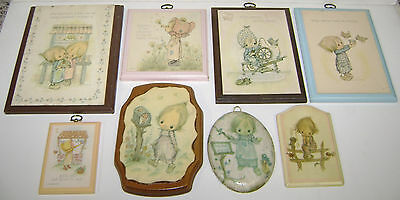8 Different Vintage Betsey Clark Wall Plaques Hallmark Sm-Lg Nice But Used