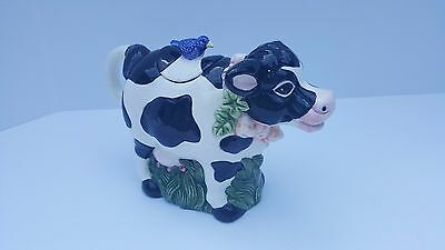 Cow Creamer White and Black w/Lid