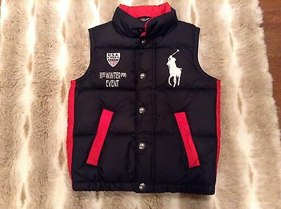 Boys Size 5 Ralph Lauren Polo 111rd Winter Event USA Puffer Vest