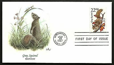 "US 1987 FDC Collection "" Wildlife of the 50 States"" Kentucky - Gray Squirrel"