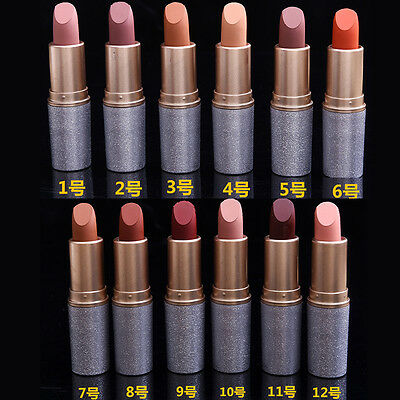 12 Color Waterproof Beauty Makeup Matte Lipstick Lip Gloss Long Lasting Cosmetic