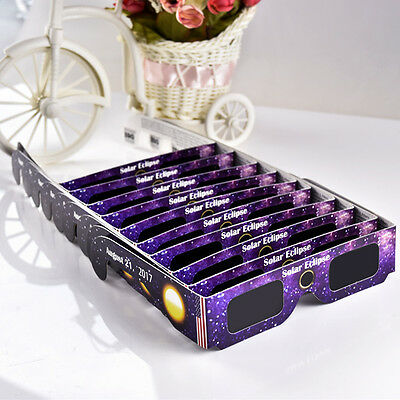 Solar Eclipse Glasses 2017 Galaxy Edition (10 Pack) CE and ISO Standard Viewing