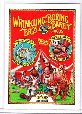 """2017 Wacky Packages """"WRINKLING AND BORING BROS."""" #73 Network Spews Limited"""