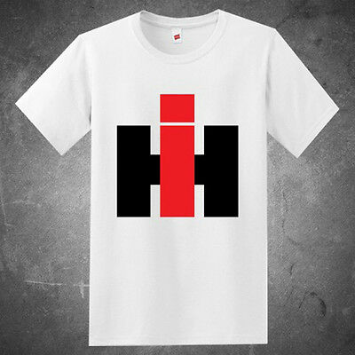 International Harvester IH Trucks Logo Men's White T-Shirt Size S to 3XL