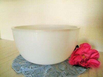 Vintage Mixing Bowl Sunbeam Large Milk Glass Tab Handles Fits Most Mix Masters**