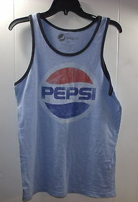 Mens Pepsi Shirt M Retro Style Pepsi Cola Logo Tank Top T-SHIRT
