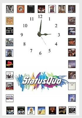 Status Quo Album Wall clock  Great gift Personalised Free