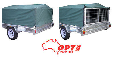 NEW GPT Caged 6x4 600mm Trailer Cover, Green Woven Canvas
