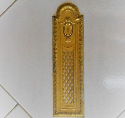 Antique FRENCH Gilded Brass Backplate PUSH PLATE LOUIS XVI STYLE