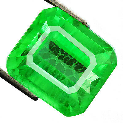 19 ct Lab-created COLUMBIAN EMERALD CHATHUM OCTAGON INDUCED INCLUSION 13 x 14MM