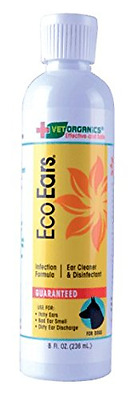 EcoEars Dog Ear Cleaner. Infection Formula. 8 oz. Itch, head shaking & smell gon