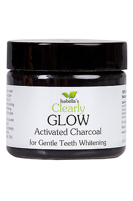 Isabella's Clearly GLOW, Best Natural Teeth Whitening Activated Charcoal