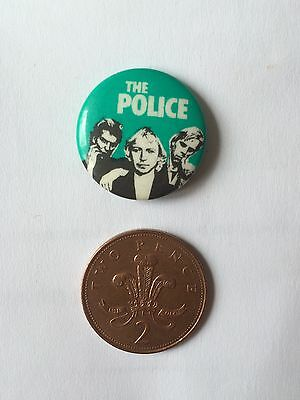 Small Button Pin Badge (see pics) The Police Sting