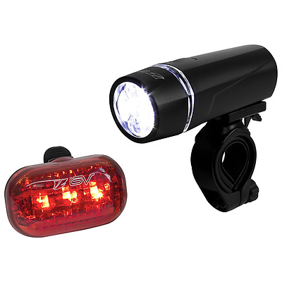 BV Bicycle Light Set, Super Bright 5 LED Headlight and 3 LED Taillight, Quick-Re