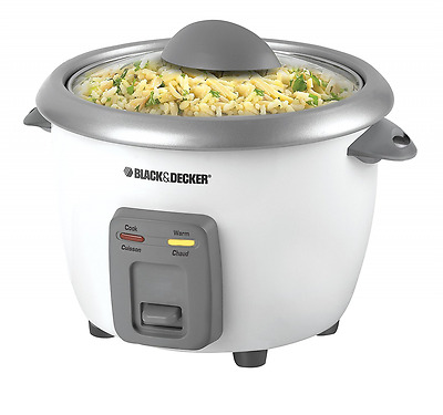 BLACK+DECKER RC3406C 3-Cup Dry/6-Cup Cooked Rice Cooker, White