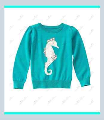 NWT Gymboree Seaside Stroll Size 7-8 Seahorse Sweater Cotton Girls