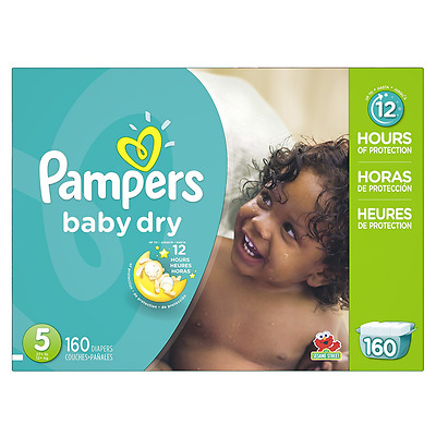 Pampers Baby-Dry DiapersSize-5, 160-Count- Packaging May Vary
