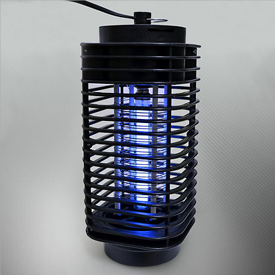 Black 110V Electric Mosquito Fly Bug Insect Zapper Killer With Trap Lamp