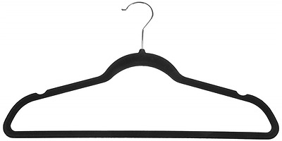 AmazonBasics Velvet Suit Hangers - 50 Pack, Black