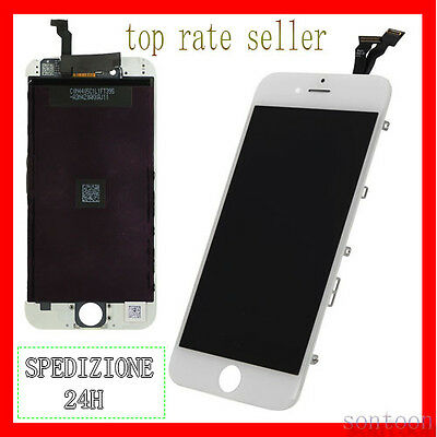 Touch Screen Frame Vetro Lcd Display Retina Schermo Per Apple Iphone 6 Bianco