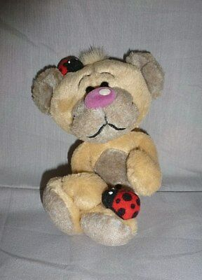 Peluche Diddl pimboli ours coccinelle calin TBE 14cm