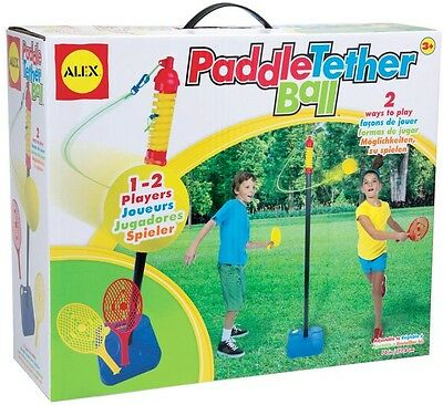 Kids Outdoor Toy Paddle Tether Ball Children Backyard Fun Game with 2 Paddles