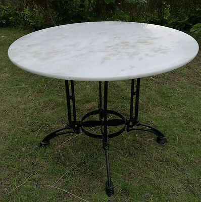 DELIVERED to East Coast Locations OUTDOOR MARBLE top TABLE 100cm wide  - SEATS 6